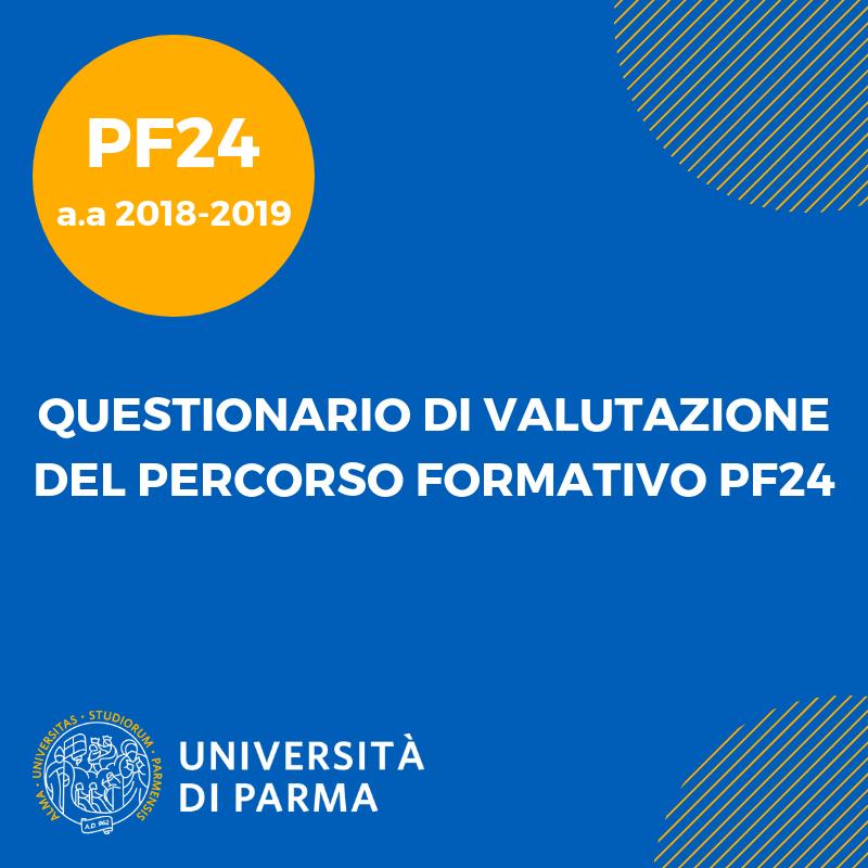 Questionario di valutazione del Percorso Formativo PF24